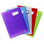 Sichtmappe aus PP 500µ 40 Hüllen Crystal Colours, für Format DIN A4