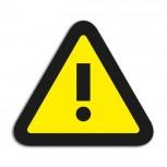 Symbol Achtung, Satz von 5 Stück 35x40 mm gelb/schwarz