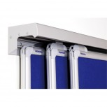 Tafel-Schienensystem PRO, 3 Stück, Aluminium, 300 x 8 cm