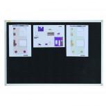 Textiltafel X-tra!Line®, 120 x 90 cm, schwarz