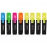 Textmarker - 4x neon gelb und je 1x orange, pink, blau, grün, mit Keilspitze 8er Pack Strichbreite ca. 1-5 mm, einzeln Entnehmbar