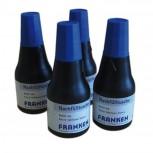 Tinte, Tusche für Marker, Tafelschreiber + JumboMarker, 100 ml, blau, 4x 25 ml